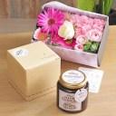 退職祝いにおすすめ!≪お花が選べる≫エルダーフラワーコーディアル(クラシックジンジャー)と選べるお花のギフトセット【送料無料】