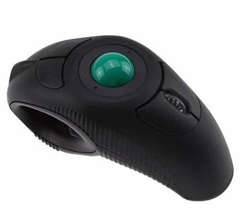 【新入荷】ワイヤレス指ハンドヘルド USB 2.0トラックボールマウス 3D光学式 MacBook