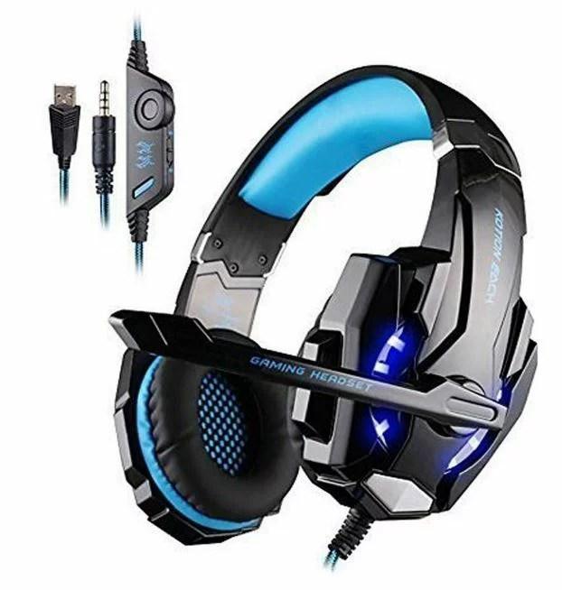 【新入荷】ゲーミング ヘッドセット KOTION EACH ゲーミング ヘッドセット  Blue Topaz's改良版 ヘッドホン ゲーム用 PC PS4 スマホ