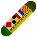 【スケートボードデッキ】EXPEDITION ONE(エクスペディションワン)NAVIGATORS DECK Kelly Hart GREEN 【350】
