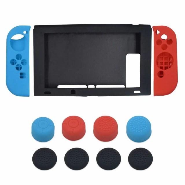 Nintendo Switch ケース +Joy-Con カバー スイッチ 保護ケース 任天堂 スイッチ ケース ゲームパッド 保護カバー シリコン素材 着脱簡単 心地よい手触り