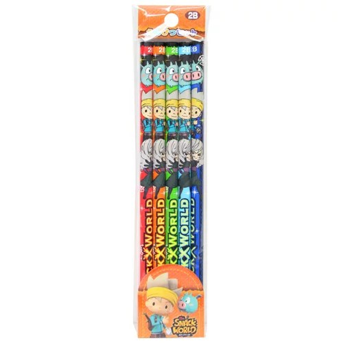 スナックワールド 鉛筆セット<えんぴつ> 2B 六角軸 5本入り 4901772229247