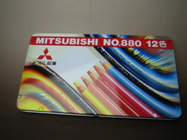 三菱鉛筆色鉛筆 12色K880 12CP 972489 ◇◇【メーカー取り寄せ品】