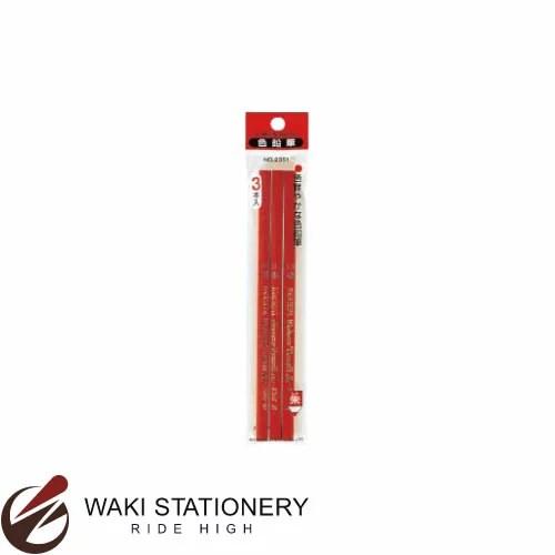 三菱鉛筆 鉛筆 朱通し 3P [K2351] / 10セット