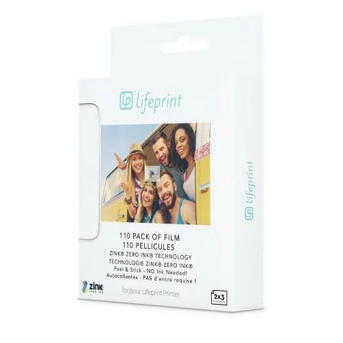 【正規販売代理店】 Lifeprint ライフプリントPhoto Paper シール式 フォトペーパー Sticky Back 2×3 20 Pack 110枚パック モバイルフォトプリンター AR写真 フォトプリンター スマホ アプリ ライブフォト 写真用紙