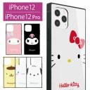 サンリオ iPhone 12 iPhone12 Pro ガラスケース スクエア 四角 キャラクター iPhone 12Pro お……