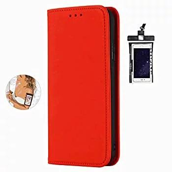 【中古】全面保護 手帳型 Samsung Galaxy S8 Plus ケース 本革 レザー カバー 対応 耐摩擦 軽量 保護ケース スマートフォンケース [無料付防水ポーチケー