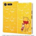 Xperia XZ1 手帳型ケース ディズニー プー カバー キャラ カードポケット ストラップホール 可……