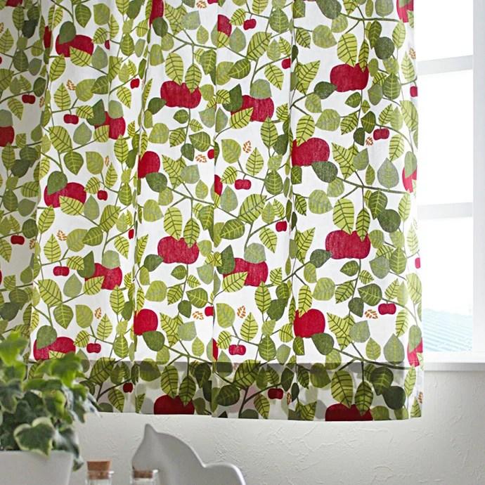 北欧カーテン アルメダールス almedahls アップル グリーン オーダーカーテン 北欧ブランド