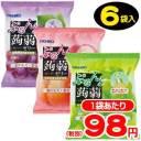 【オリヒロ】6個ぷるんと蒟蒻ゼリーパウチ グレープ・ピーチ・マスカットアソート(6袋入)