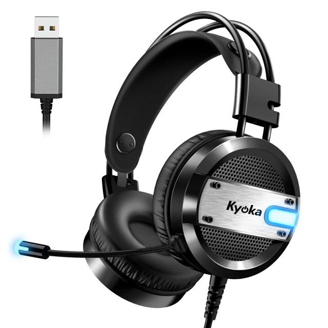 ヘッドセット 両耳 ヘッドホン ゲーミングヘッドセット イヤホン 高音質 マイク付き ヘッドフォン ゲームヘッドフォン テレワーク ZOOM スカイプ オンライン会議 ボイスチャット イヤーパッド PC Skype PS4対応 LEDライト キッズ 男女兼用
