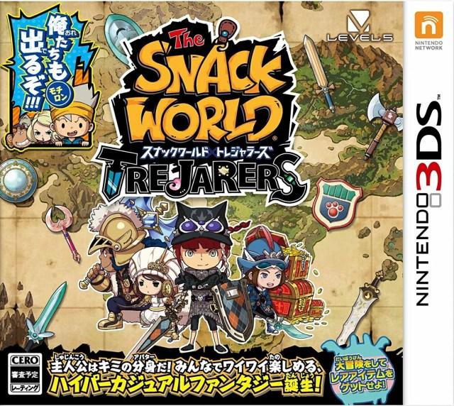 スナックワールド トレジャラーズ 【中古】 3DS ソフト CTR-P-BWSJ / 中古 ゲーム
