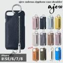 《即納》【新SE/8/7/6対応】エジュー ajew 通販 ajew cadenas zipphone case shoulder iphone8……