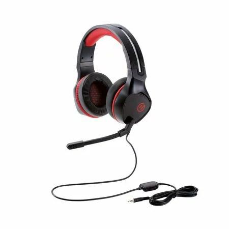 ELECOM(エレコム)[HS-G01BK] ゲーミングヘッドセット/両耳オーバーヘッド/4極ミニプラグ/50mmドライバ/極厚イヤーパッド/コントローラ付属/ブラック HSG01BK