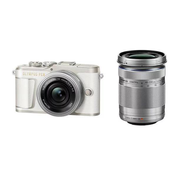 オリンパス デジタル一眼カメラ・EZダブルズームキット OLYMPUS PEN ホワイト PEN E