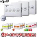 【【最大3300円OFFクーポン】】HONMA GOLF(本間ゴルフ) 日本正規品 HONMA New-D1 ホンマゴルフボール3ダースパック(36個入) 2019モデル..