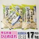 【ふるさと納税】 ◆精米◆ ひとめぼれ 17kg 乾式無洗米