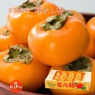 【ふるさと納税】庄内特産 種なし柿 約5kg(29玉〜36玉
