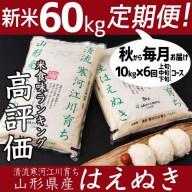 【ふるさと納税】計60kg!新米定期便(お得な半年コース)2
