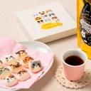 【ふるさと納税】153:ニャンともかわいいティータイム 和風ミニニャシュマロと黒猫烏龍茶セット