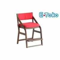 【ふるさと納税】E-Toko 子供チェア(カバー付/レッド)