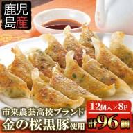 【ふるさと納税】鹿児島県産!金の桜黒豚餃子合計96個!(16