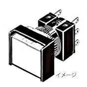 在庫品 オムロン A16L-JRM-24D-2S 照光押ボタンスイッチ(丸胴形φ16) 操作部長方形