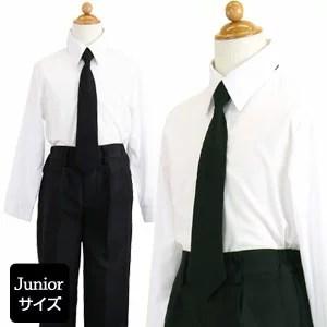 男の子 ブラックフォーマル3点セット シャツ ブラックネクタイ スラックス (ジャケットなし)