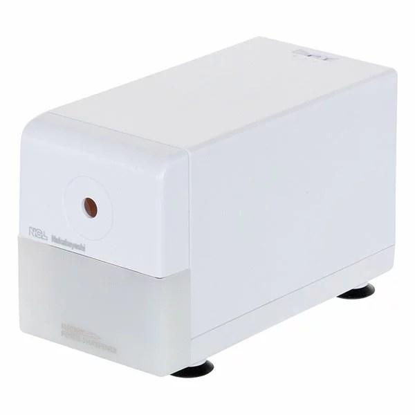 ナカバヤシ 電動鉛筆削りき / スリムタイプ / ホワイト DPS-211W