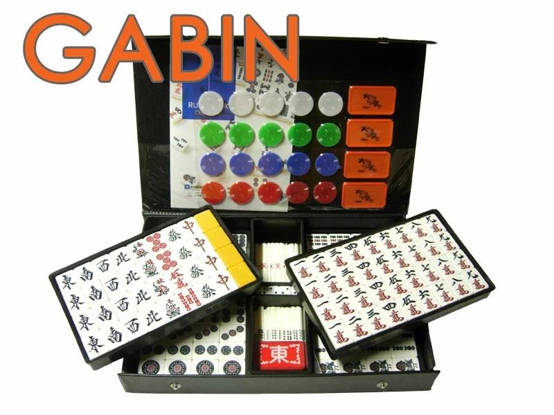 手打ち用麻雀牌 GABIN(ギャバン) 背面色/黄(イエロー) チップ付き 標準