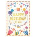 誕生日カード ライト付 ミュージックカード (クラッカー) B88167 学研ステイフル