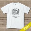 オリジナルDOG 名入れTシャツ【dessin】 キングチャールズスパニエル
