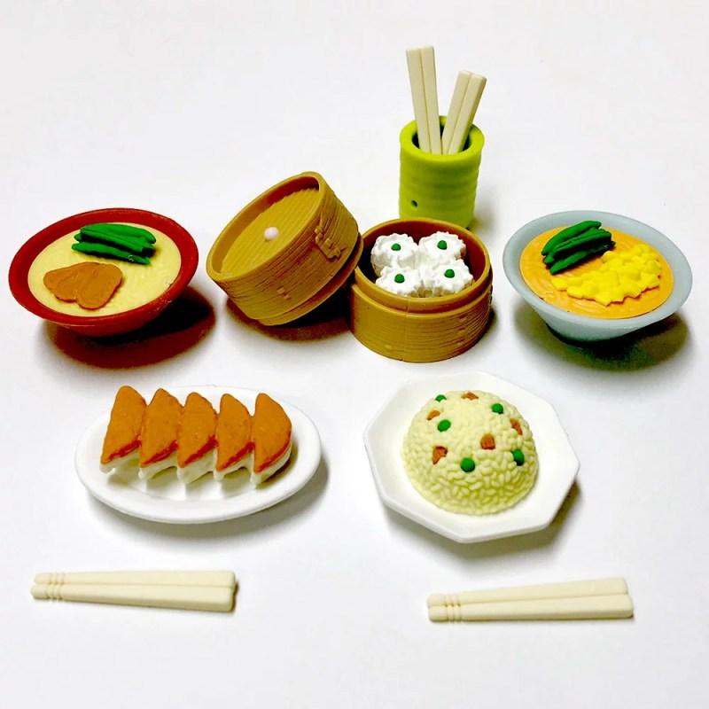 おもしろ消しゴム 中華料理日本のおみやげ おままごと ホームステイのおみやげ フィギュア消しゴム 外