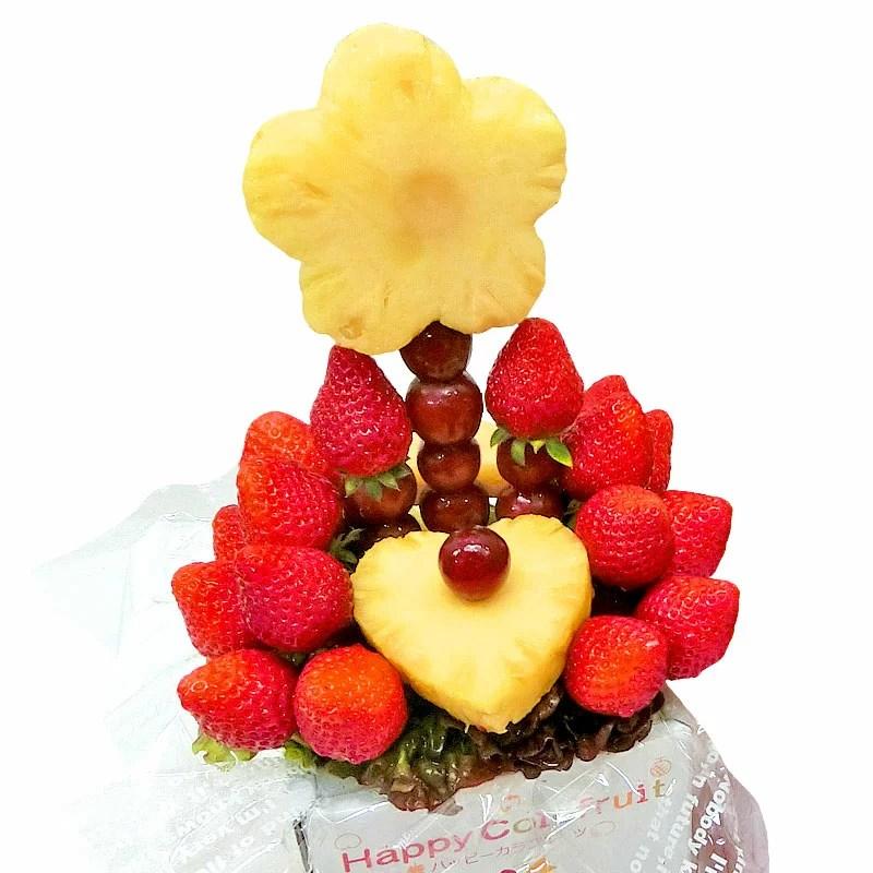 [ギフトパーク]いちごギフトフルーツブーケ[いちごブーケ]誕生日ケーキ 結婚記念日 サプライズ プレゼント パーティ フルーツギフト 果物盛り合わせ 詰め合わせ 贈答用 贈り物 スイーツ イチゴ 苺 送料無料 クリスマス お歳暮 御歳暮 バレンタインデー
