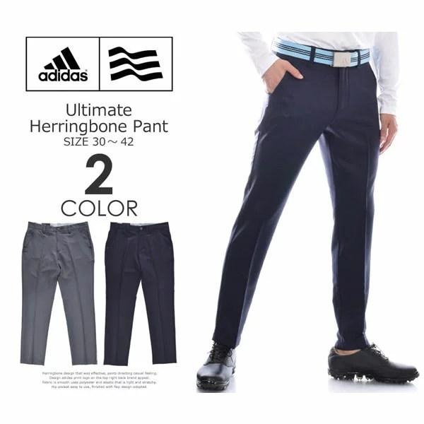 (福袋対象商品)(感謝価格)アディダス adidas ゴルフパンツ ボトム メンズウェア アルティメット ヘリンボーン パンツ 大きいサイズ USA直輸入 あす楽対応