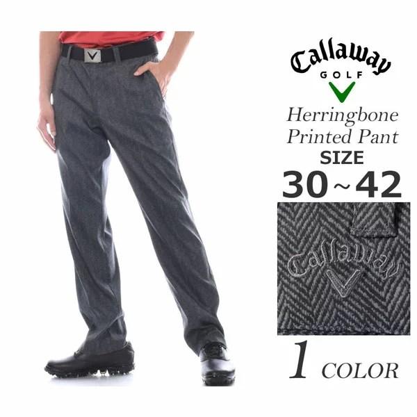 (福袋対象商品)キャロウェイ Callaway  ゴルフパンツ メンズウェア ヘリンボーン プリント パンツ 大きいサイズ USA直輸入 あす楽対応