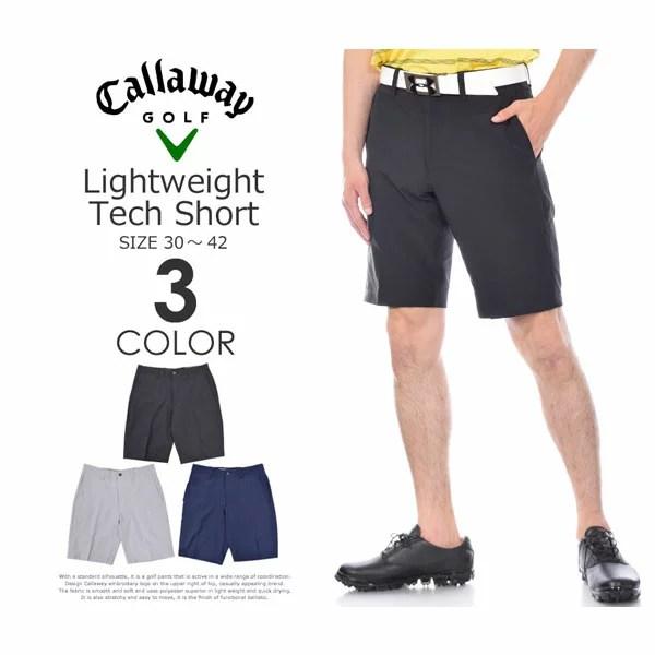 (福袋対象商品)キャロウェイ Callaway  メンズ ライトウェイト テック ショートパンツ 大きいサイズ USA直輸入 あす楽対応