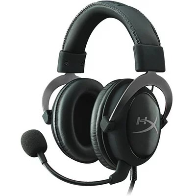 【Gaming Goods】KINGSTON KHX-HSCP-GM ガンメタ/黒 ゲーミングヘッドセット HyperX Cloud II- Pro Gaming Headset