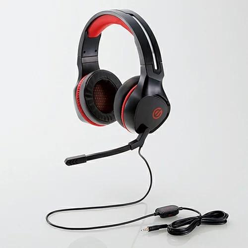 【Gaming Goods】エレコム HS-G01BK シューティング系ゲームに適した、大型50mmドライバ搭載のゲーミングヘッドセット