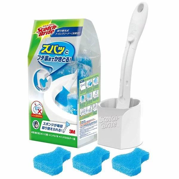 3M スコッチブライト 取り替え式トイレクリーナー洗剤付(取