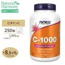 ビタミンC-1000 with ローズヒップ タイムリリース 1000mg 250粒 NOW Foods(ナウフーズ)[お得サイズ]