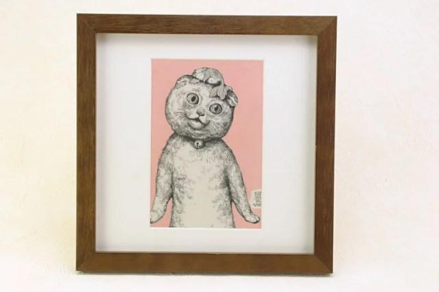ヒグチユウコ なかよし ポストカード 額付き 絵画【猫】【ねこ】【RCP】