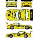 レーシングデカール43 1/24 メルセデスSLS GT3 GTルシアン・レーシング カーNo.70 2015年BESモンツア