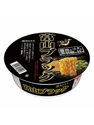 寿がきや 全国麺めぐり 富山ブラックラーメン 12個(1ケース) - 北陸うまいもん屋
