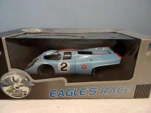 【送料無料】模型車 モデルカー スポーツカーポルシェガルフレーシングユニバーサルホビーイーグルレースボックスporsche 917k no2 gulf racing 1970 118 by universal hobbies eagles race boxed