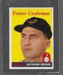 【送料無料】スポーツ メモリアル カード #キャッスルマンフォスター1958 topps baseball 416 foster castleman exmt *6216