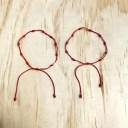 【送料無料】ブレスレット アクセサリ— ブレスレットlot of 2 knotted red string protection bracelets adjustable 1mm string