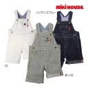 ミキハウス正規販売店/ミキハウス mikihouse デニム☆オーバーオール〈S-M(70cm-90cm)〉