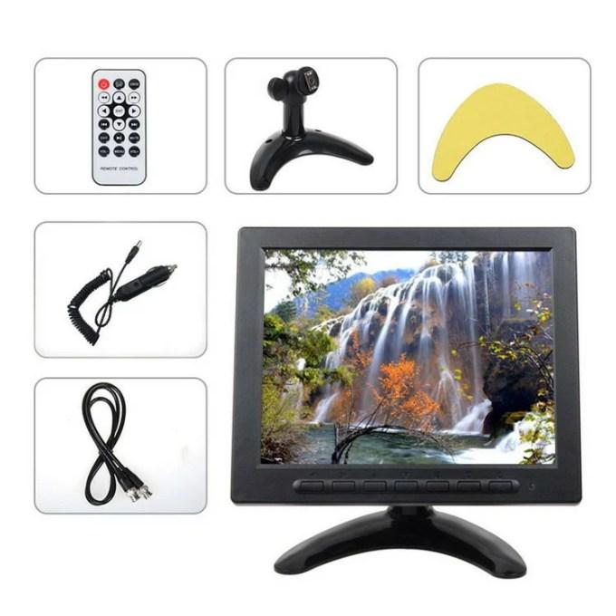 8インチIPS液晶 スピーカー内臓 オンダッシュモニター メディアプレイヤー 動画対応 HDMI/V