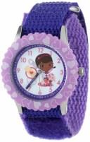 ディズニー 腕時計 キッズ 時計 子供用 ドックはおもちゃドクター ラミー Disney Kids' W000911 Doc McStuffins Stainless Steel Time ..